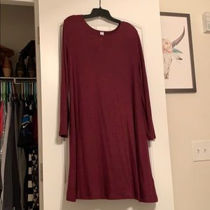 Old Navy burgundy sweater dress.
